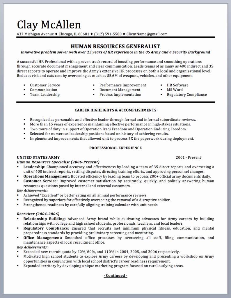 Military Resume Template Microsoft Word Unique Pin On Resume Samples & Writing Guide