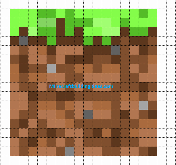 Minecraft Pixel Art Templates Beautiful Dirt Block