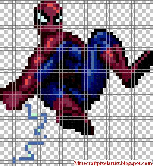 Minecraft Pixel Art Templates Beautiful Minecraft Pixel Art Templates and Tutorials Spider Man Minecraft Pixel Art Template and Tutorial