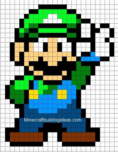 Minecraft Pixel Art Templates Beautiful Minecraft Pixel Art Templates Luigi Minecraft Pinterest