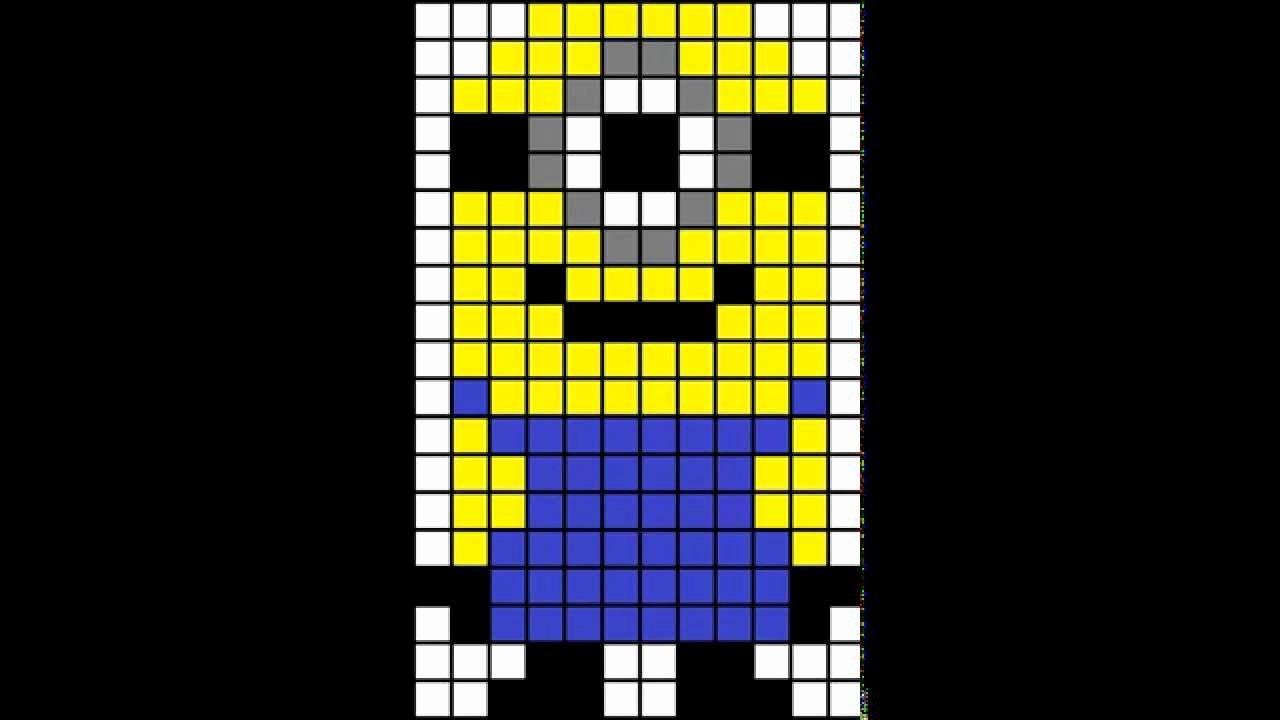 Minecraft Pixel Art Templates Luxury Minecraft Pixel Art Template Minion