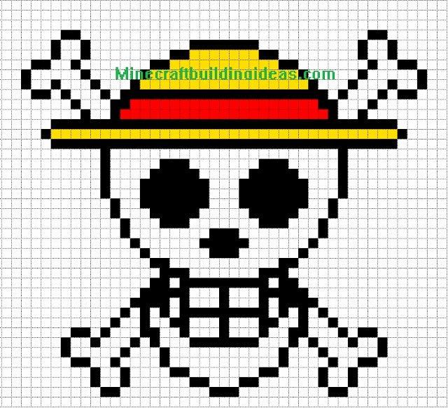 Minecraft Pixel Art Templates New Minecraft Pixel Art Templates Straw Hat Luffy Pixel Designs Pinterest