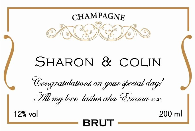 Mini Champagne Bottle Labels Template Awesome Mini Champagne