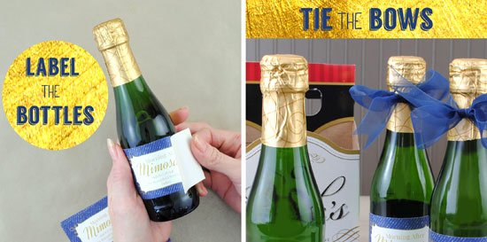 Mini Champagne Bottle Labels Template Best Of Morning after Mimosa Kits A How to Guide Including Step by Step S
