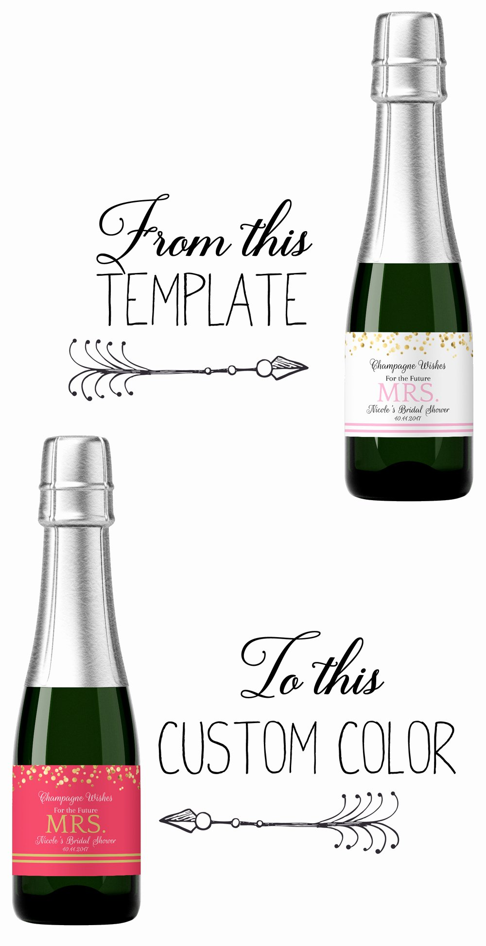 Mini Champagne Bottle Labels Template Elegant How to Make A Custom Label From A Template Step by Step Guide