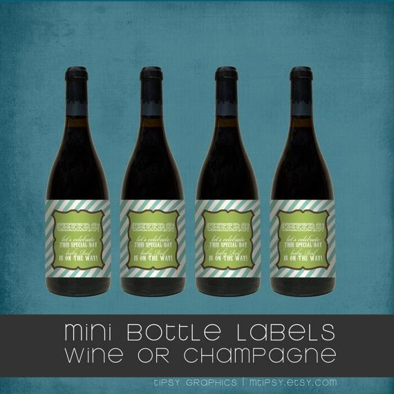 Mini Champagne Bottle Labels Template Inspirational Best 25 Mini Champagne Ideas On Pinterest