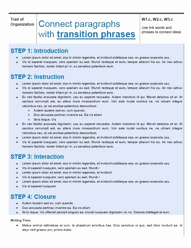 Mini Lesson Plan Template Awesome Execute Mini Lessons In 4 Steps