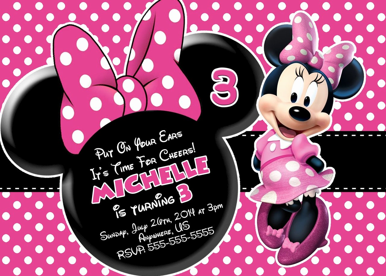 Minnie Mouse Birthday Invitation Awesome Pink Minnie Mouse Birthday Invitations Partyexpressinvitations