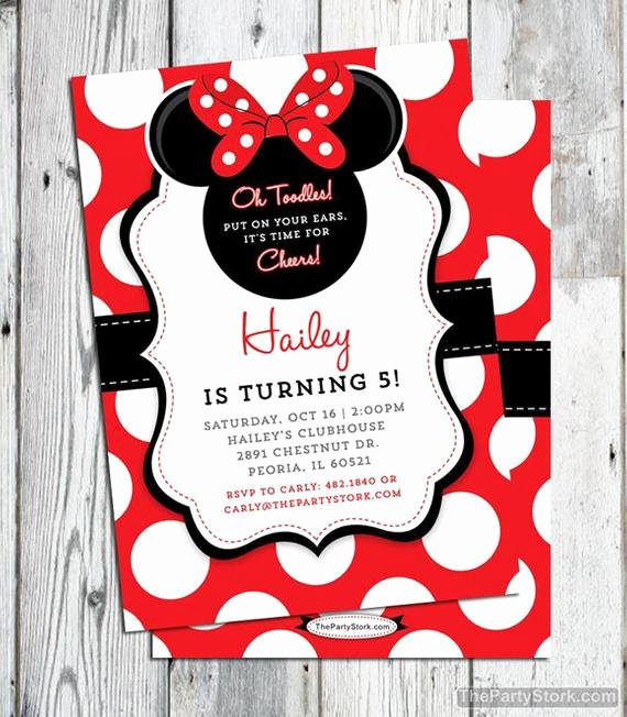 Minnie Mouse Birthday Invitation Beautiful Minnie Mouse Invitation Red Printable Minnie Mouse Birthday