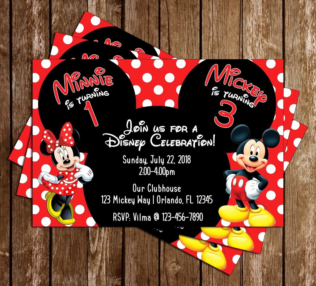 Minnie Mouse Birthday Invitation Best Of Novel Concept Designs Mickey & Minnie Mouse Polka Dots Birthday Party Invitation
