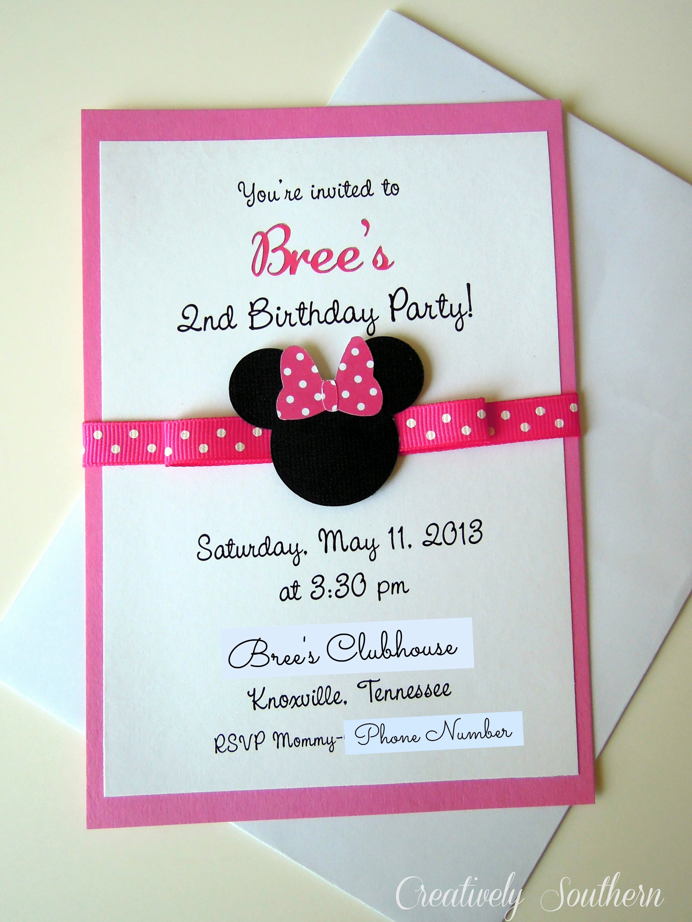Minnie Mouse Birthday Invitation Inspirational Minnie Mouse Birthday and Paper Mache