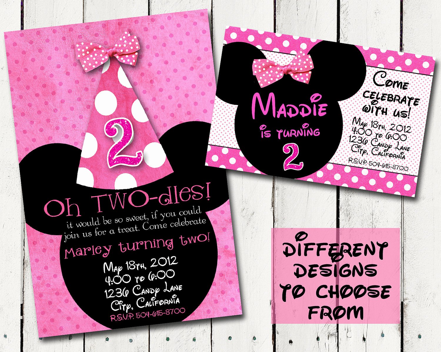 Minnie Mouse Birthday Invitation Unique Chalkboard Birthday Invitation Custom by Tamiraycardsandprint