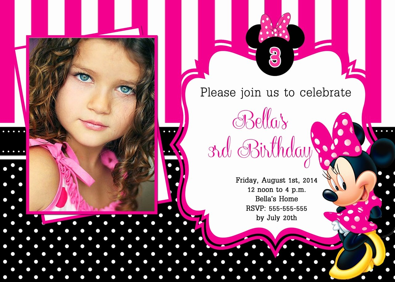 Minnie Mouse Birthday Invitations Awesome Hot Pink Minnie Mouse Birthday Invitations Partyexpressinvitations