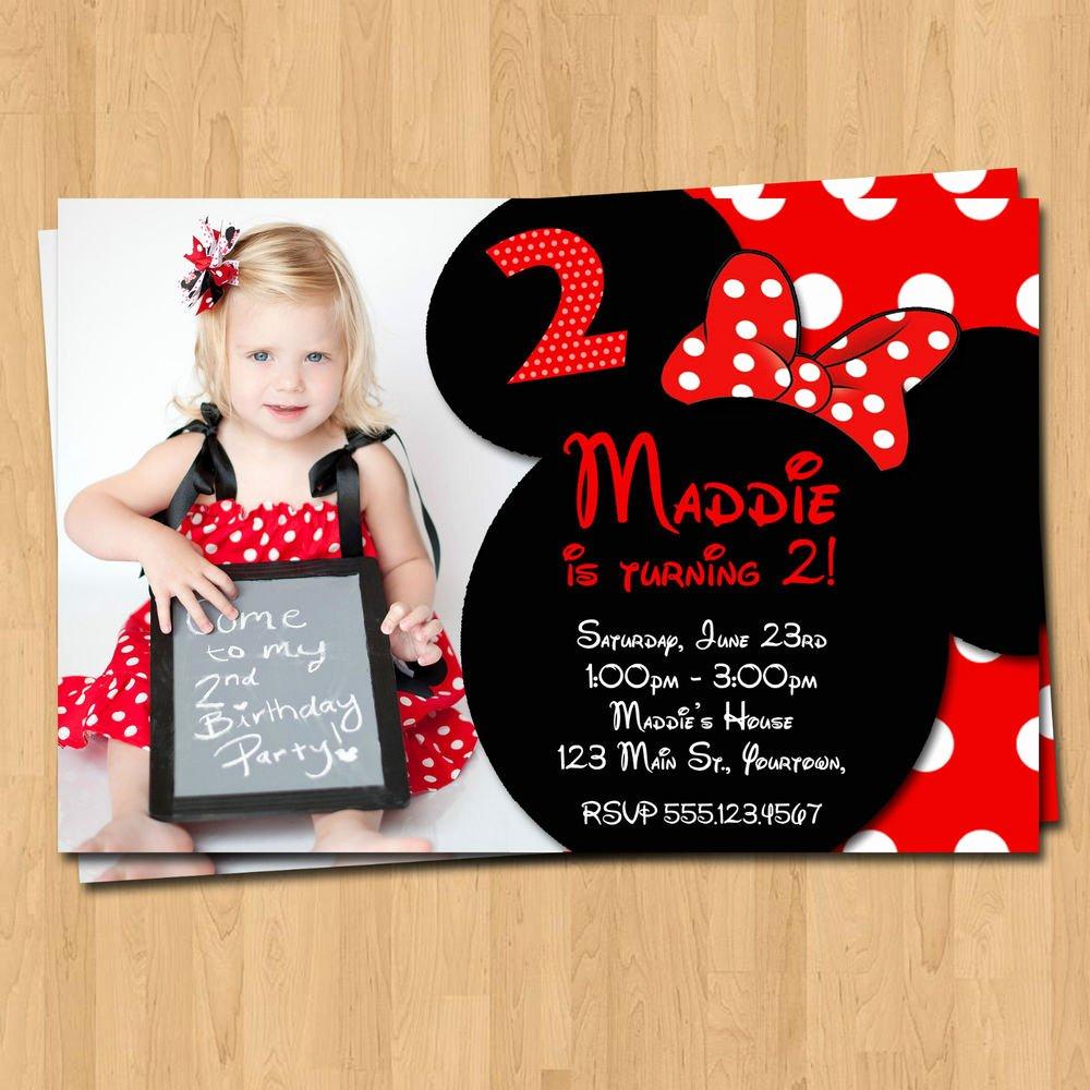 Minnie Mouse Birthday Invitations Elegant Minnie Mouse Invitations 20 Birthday Party Invites & Envelopes Custom