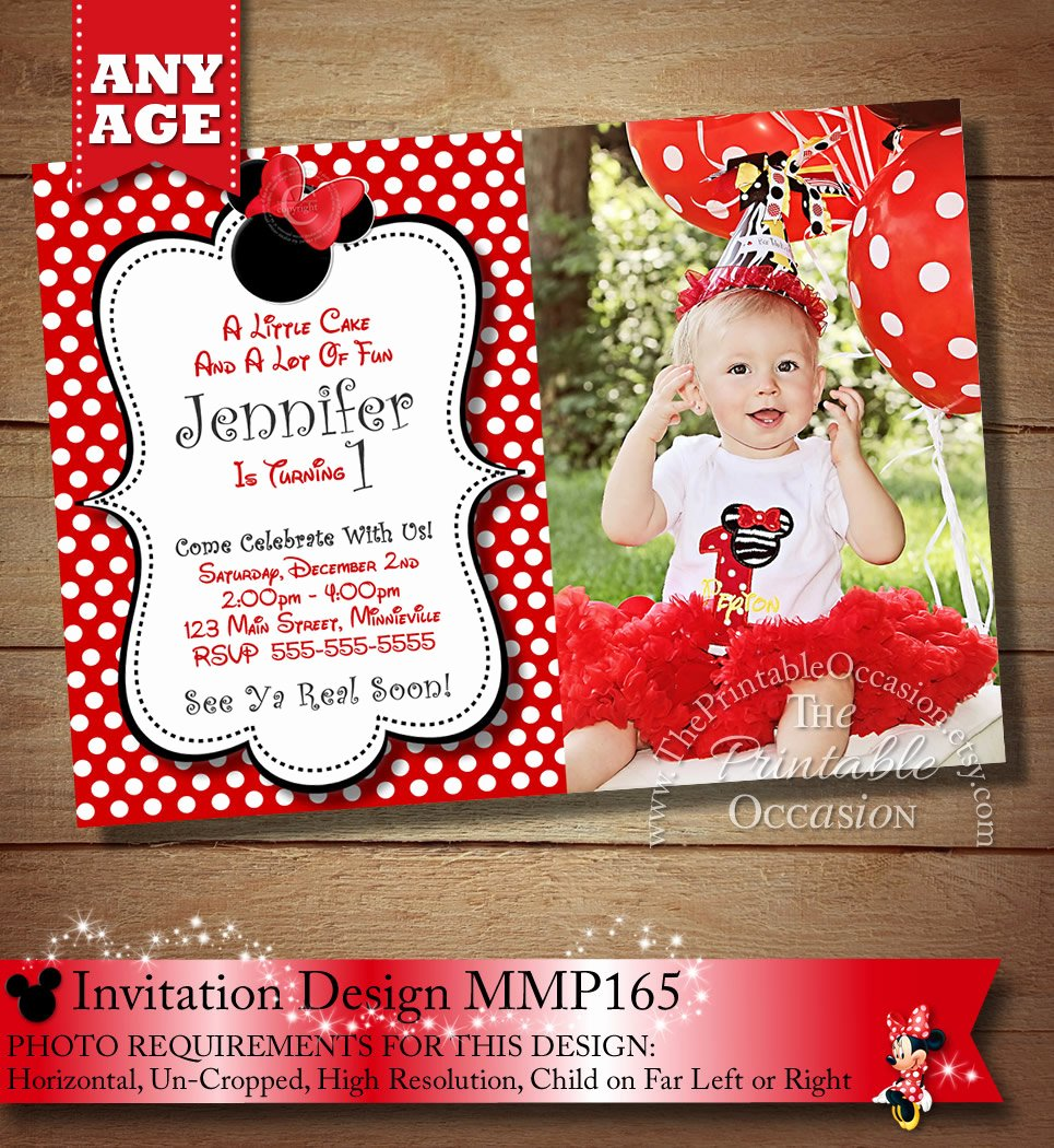 Minnie Mouse Birthday Invitations New Huge Selection Minnie Mouse Birthday Invitation Minnie Mouse