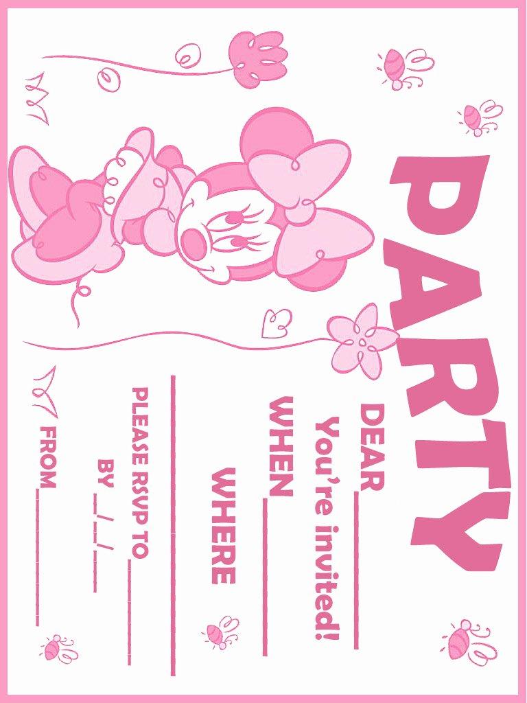 Minnie Mouse Birthday Invitations Unique 32 Superb Minnie Mouse Birthday Invitations