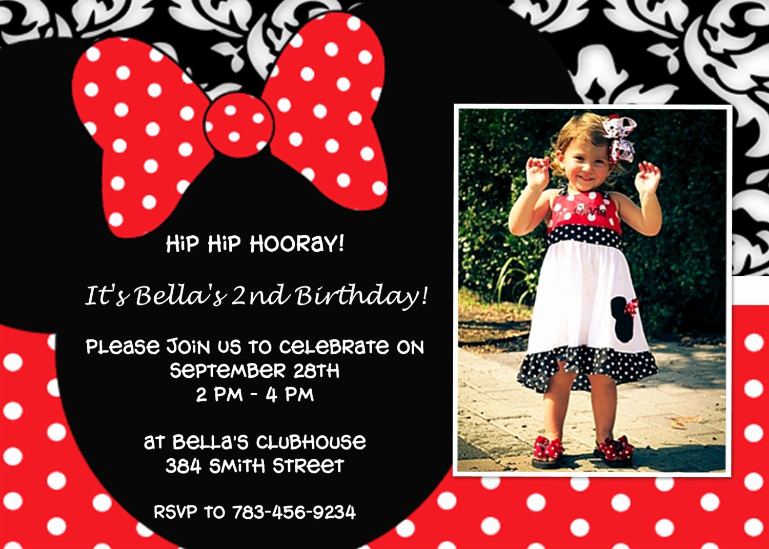 Minnie Mouse Birthday Party Invitations Beautiful Perfect Minnie Mouse Birthday Invitation