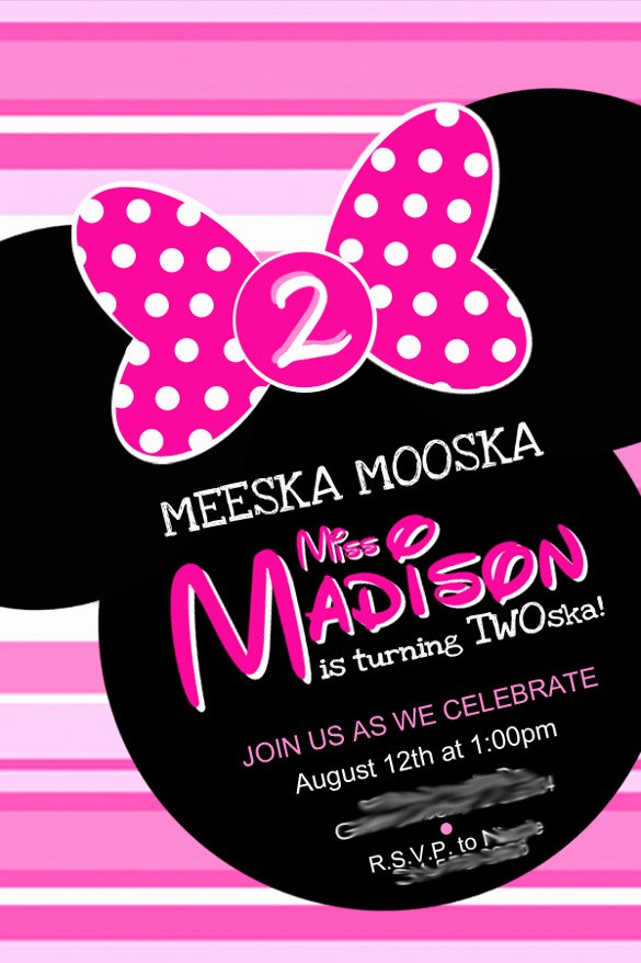 Minnie Mouse Birthday Party Invitations Elegant 26 Minnie Mouse Invitation Templates Psd Ai Word