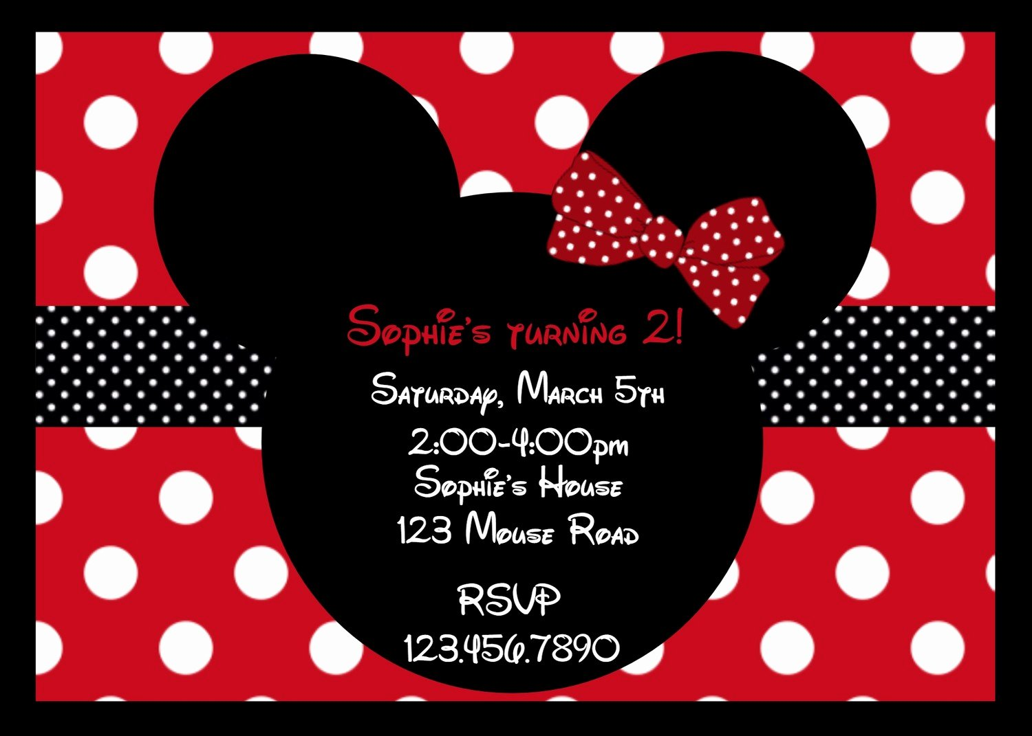Minnie Mouse Birthday Party Invitations Inspirational Printable Birthday Invitations Girls Mouse Party