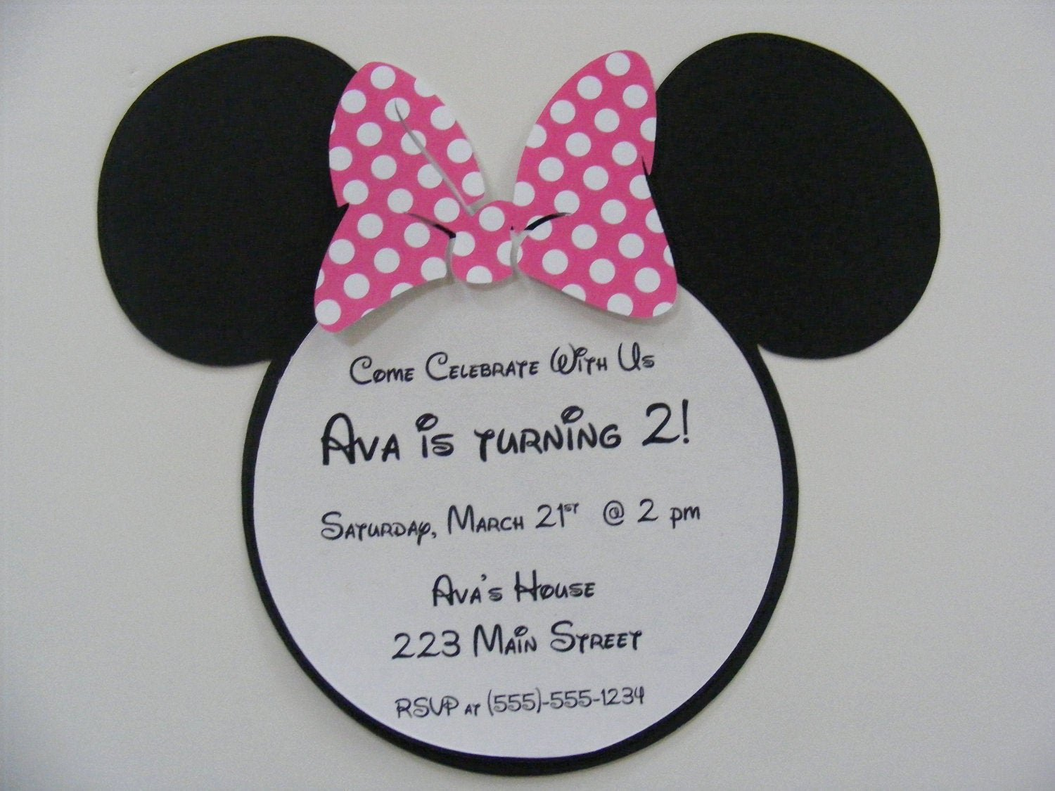 Minnie Mouse Birthday Party Invitations Lovely Minnie Mouse Invitations Custom Listing for Rrstan