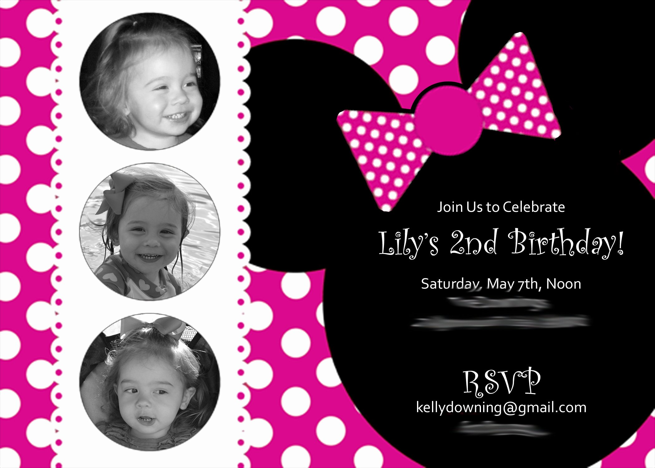 Minnie Mouse Birthday Party Invitations Unique A Two Year's Olds Mini Minnie Birthday Party