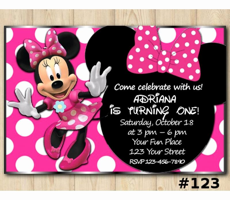 Minnie Mouse Invitation Card Awesome Minnie Mouse Head Birthday Invitation Minnie Mouse Invitation Template