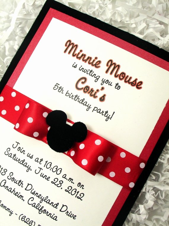 Minnie Mouse Invitation Card Lovely 1000 Images About Festa Minie On Pinterest