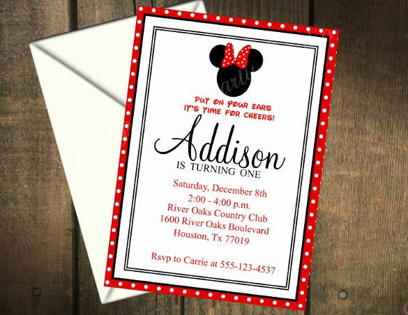 Minnie Mouse Invitation Card Luxury 26 Minnie Mouse Invitation Templates Psd Ai Word Publisher