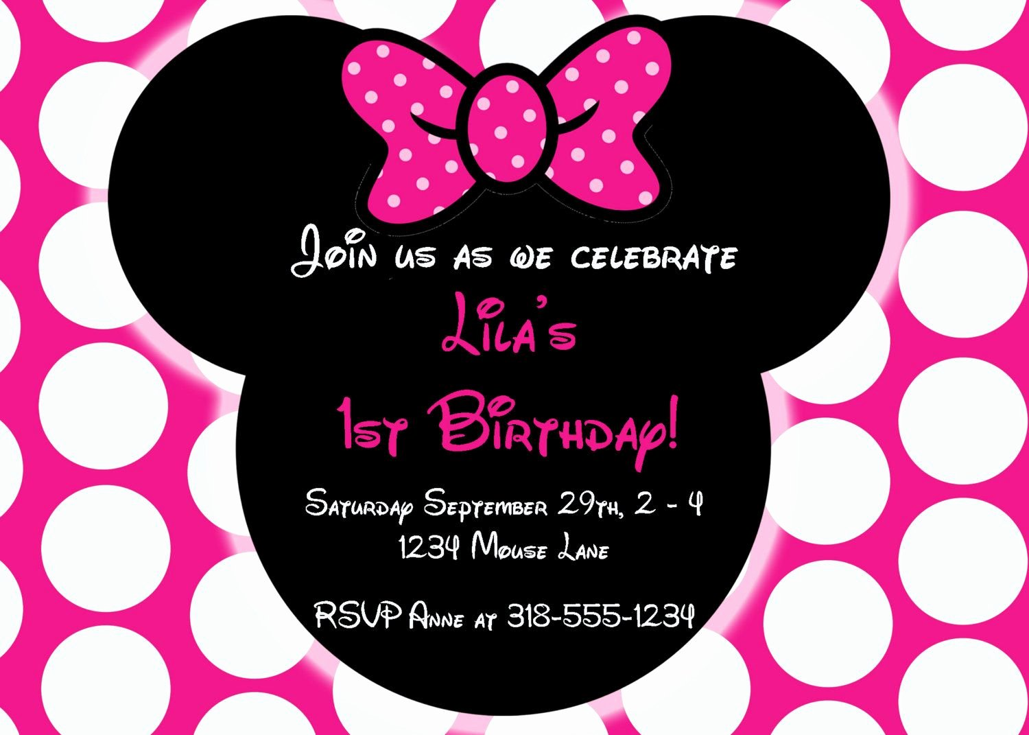 Minnie Mouse Personalized Invitations Best Of Free Editable Minnie Mouse Birthday Invitations Minnie Mouse Sba Pinterest