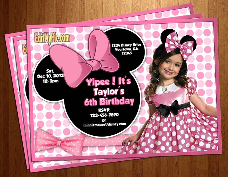 Minnie Mouse Personalized Invitations Luxury Minnie Mouse Birthday Invitations Personalized