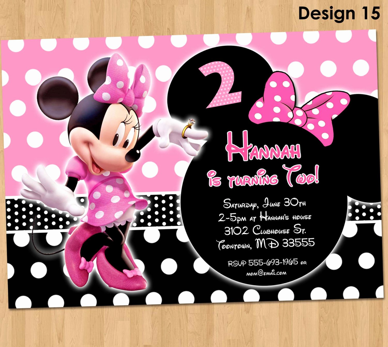 Minnie Mouse Personalized Invitations Unique Minnie Mouse Invitation Minnie Mouse Birthday Invitation