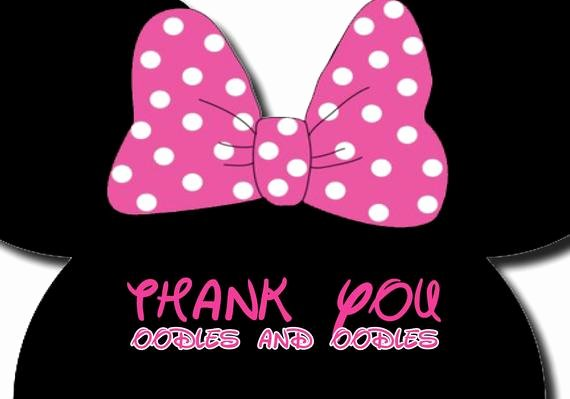 Minnie Mouse Thank You Cards Fresh Minnie Mouse Thank You Oodles and Oodles Thank You Cards