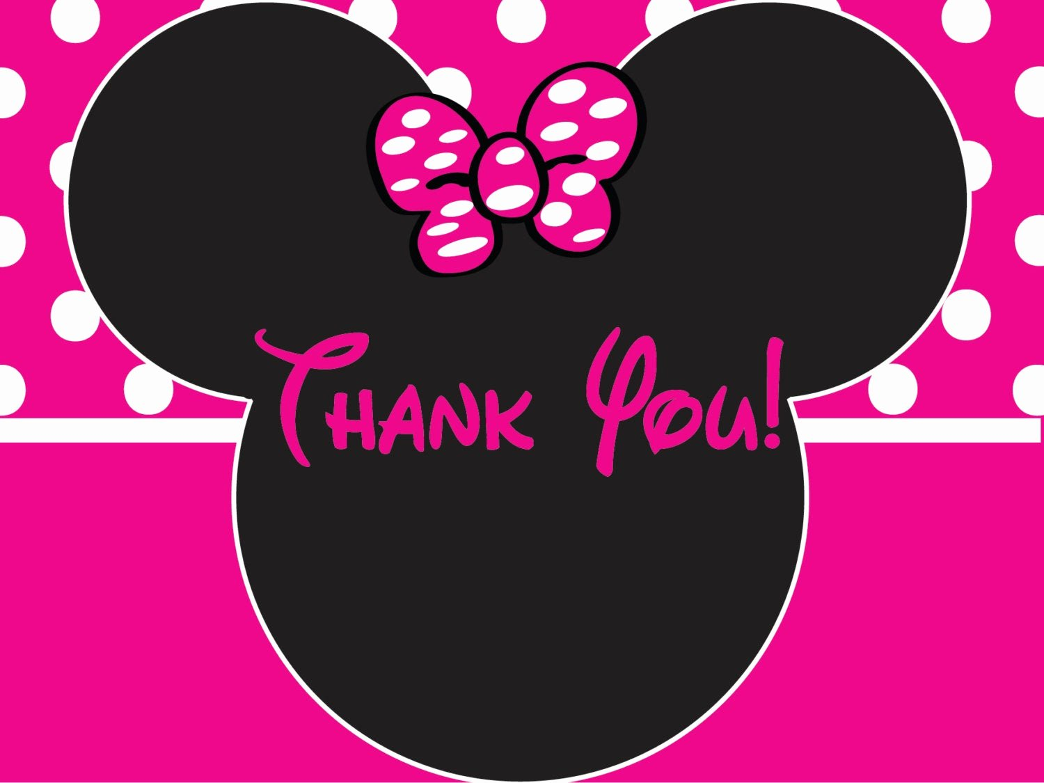 Minnie Mouse Thank You Cards Inspirational Minnie Mouse Birthday Thank You Card