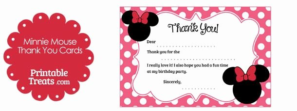 Minnie Mouse Thank You Cards Luxury Free Printable Minnie Mouse Thank You Cards Mickey & Minnie Party In 2019