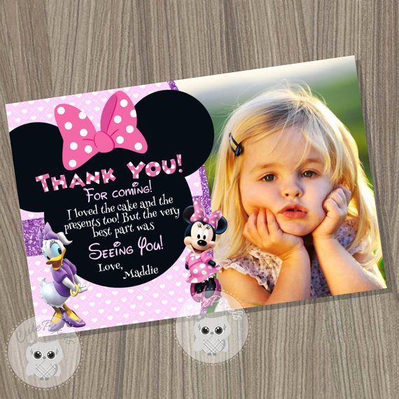 Minnie Mouse Thank You Cards New Minnie Mouse Thank You Card Daisy Duck Thank You Card Minnie