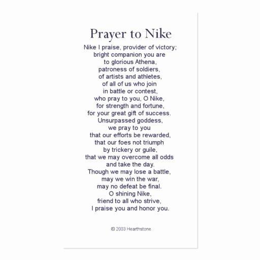 Missionary Prayer Card Template Fresh Nike Victory Prayer Card Business Card Template