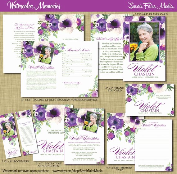 Missionary Prayer Card Template Lovely Funeral Memorial order Of Service Program Set Printable