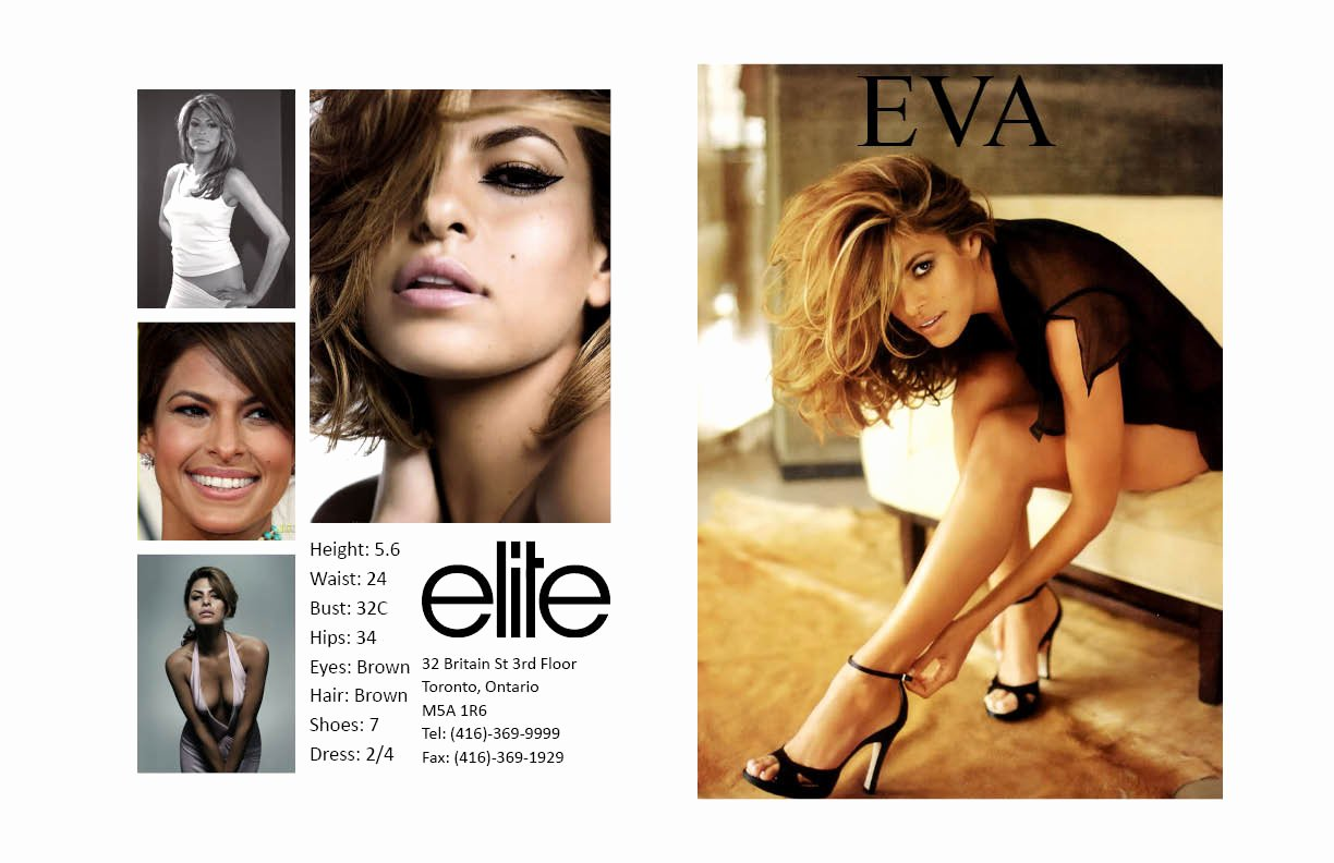 Model Comp Card Examples Beautiful Nicole Camposeo S Portfolio Eva Mendes P Card