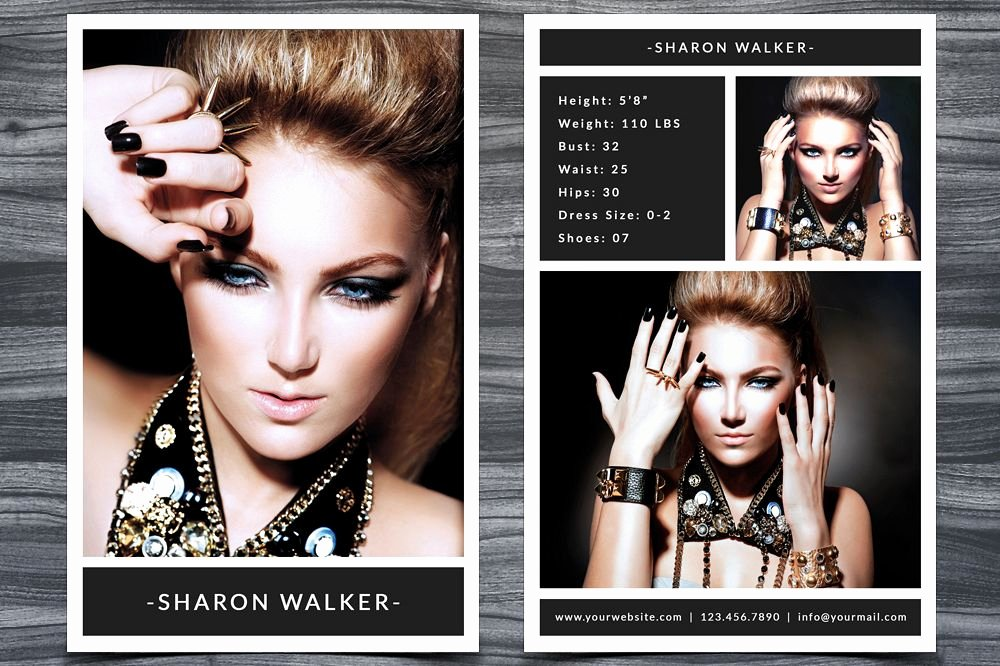 Model Comp Card Examples Best Of Model P Card Template