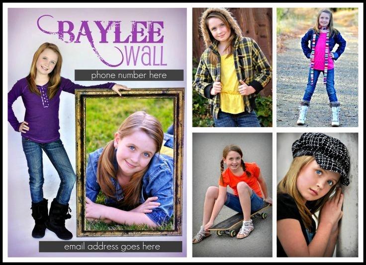 Model Comp Card Examples Lovely Child P Cards for Models Child Modeling P Card for Mya Pinterest