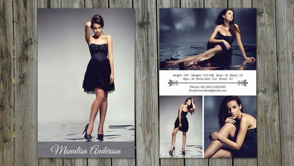 Model Comp Card Examples Luxury 8 P Card Templates Free Sample Example format Download