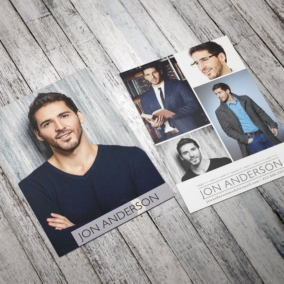 Model Comp Card Examples Luxury Professional Model P Card Zed Card for Models and