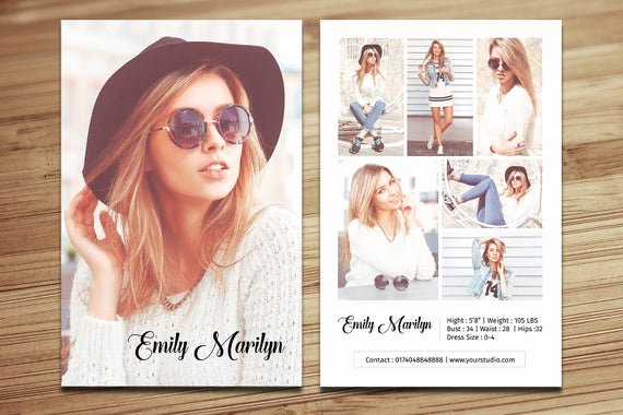 Model Comp Card Examples New Modeling P Card Template Fashion Model P Card