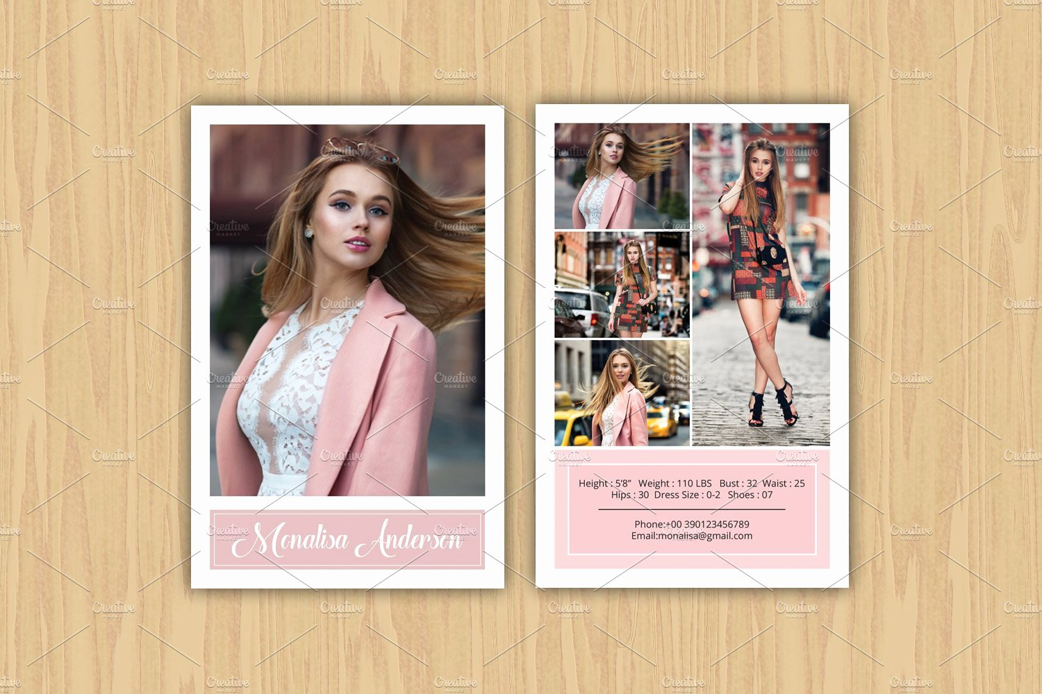 Model Comp Card Template Beautiful Model P Card Template V363 Flyer Templates Creative Market
