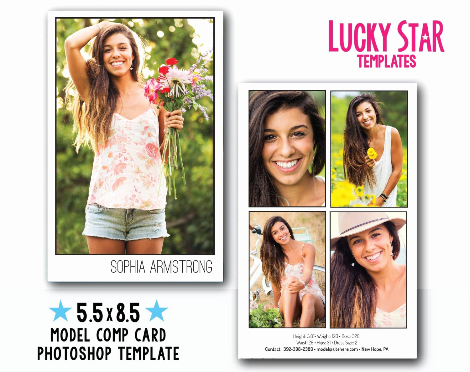 Model Comp Card Template Elegant Customizable Digital Model P Card Power Portraits