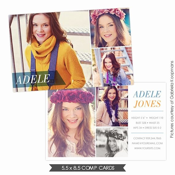 Model Comp Card Template Free Beautiful Instant Dowload Modeling P Card Shop Templates E752 P Cards