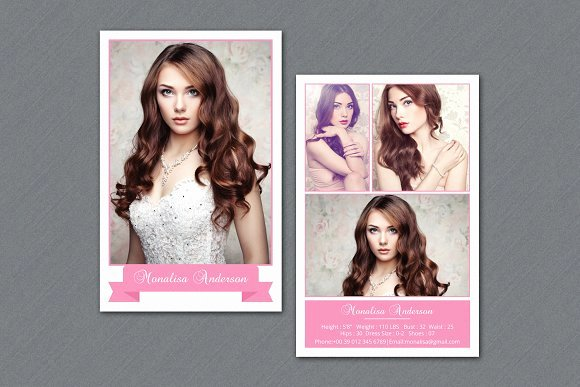 Model Comp Card Template Free Elegant Fashion Model P Card V292 Flyer Templates On Creative Market