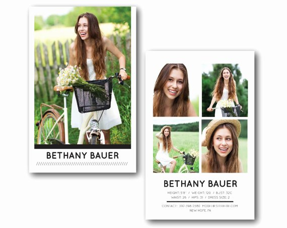 Model Comp Card Template Free Inspirational Customizable Digital Model P Card Modern Model Model