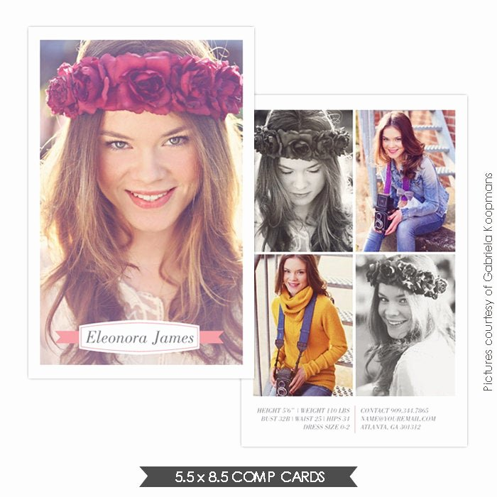 Model Comp Card Template Free New Instant Download Modeling P Card Shop Templates