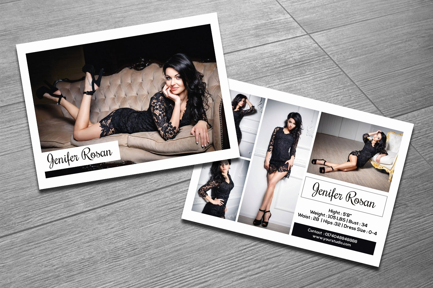 Model Comp Card Template Free Unique Modeling P Card Template Fashion Model P Card